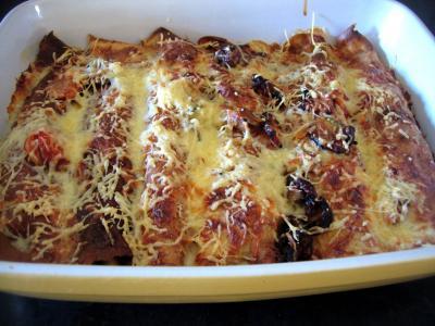 Image : recette Crêpes roulées au jambon et aux cèpes