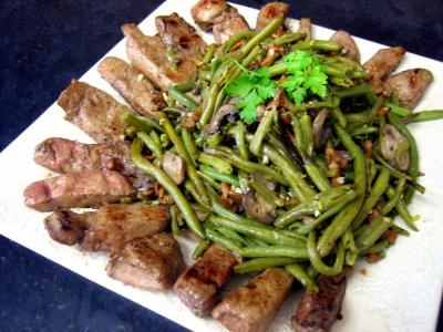 Foie de veau : Foie de veau aux haricots verts