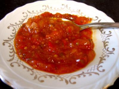 Recette Coupelle de chutney aux poivrons