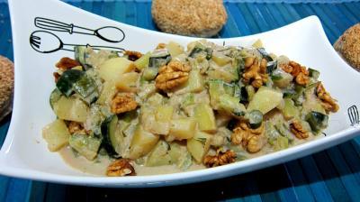 poêlée de légumes : Saladier de poêlée de poireaux