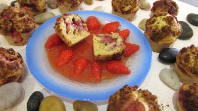 fruits chocolat : Muffins aux fraises