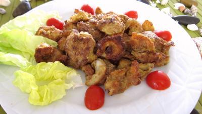 gambas : Assiette de gambas au parmesan