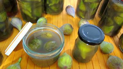 anis graines : Bocaux de figues au sirop de feuilles de stévia