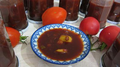 Cuisine dittique : Coupelle de chutney aux tomates