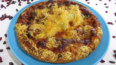 Conserve sauce pizza aux olives : Assiette de pizza hawaïenne