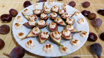 boursin : Assiette d'amuse-bouche aux figues