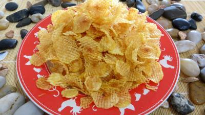 Image : Assiette de pommes de terre gaufrettes