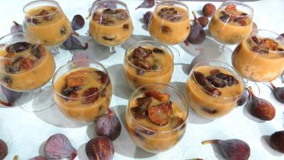 couscous : Verrines de couscous sucré aux figures en verrines
