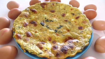 Cuisine diététique : Assiette de quiche aux épinards et lotte