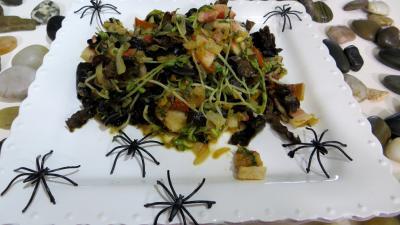 poivre rouge de kampot : Assiette de poêlée de germes de soja
