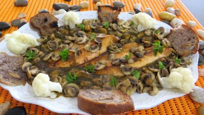 Image : Assiette de matelote de truites et moules
