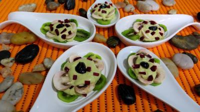 Entrées froides : Cuillères aux kiwis en amuse-bouche ou entrée