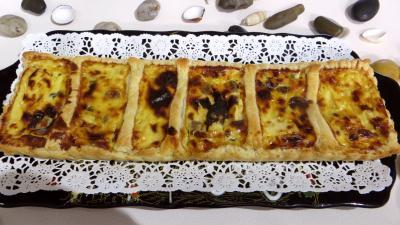 pâte feuilletée : Tarte feuilletée aux fromages forts