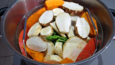 Panais et l gumes vapeur supertoinette la cuisine facile for Appareil vapeur cuisine