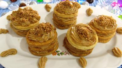 Saint Valentin : Millefeuilles  la crme ptissire praline