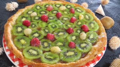 mazena : Assiette de tarte  la noix de coco et aux kiwis