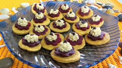 Poissons : Assiette de feuilletés à la mousse de saumon fumé
