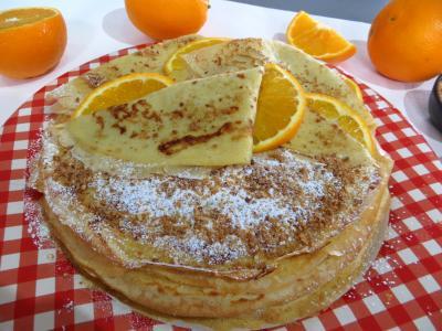 crêpes : Assiette de crêpes Toinette à l'orange