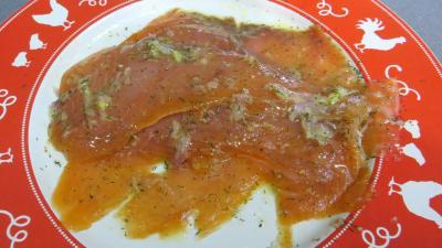 Carpaccio de saumon fumé - 4.4