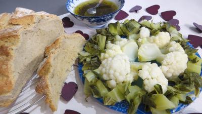 Recette Assiette de chou-fleur vapeur et ses feuilles