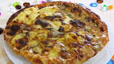 leerdammer : Pizza aux champignons et fromages