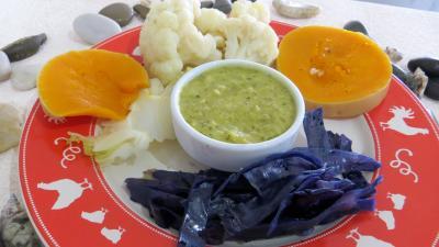 chou : Assiette de chou-fleur et légumes vapeur