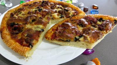champignon noir : Pizza pauvre homme