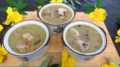 Image : recette Soupe de lentilles à la saumonette