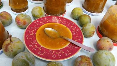 citron vert : Coupelle de chutney de reine-claude aux restes de mojito