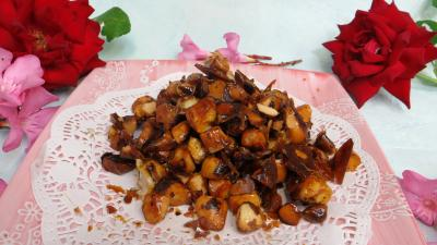 confiserie : Coupelle de pralines aux noix du Brésil