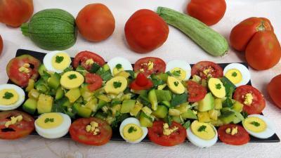 Entrées & salades : Plat de salade de courgette