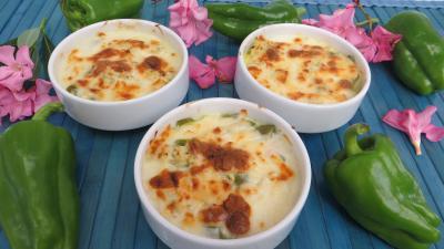 Image : Cassolettes de poivrons au poulet épicé