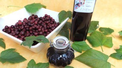 Conserves : Bouteille de crème de cassis
