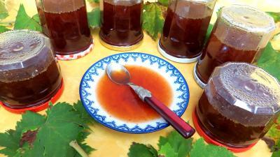 Recette Coupelle de gelée de raisins au reste de punch