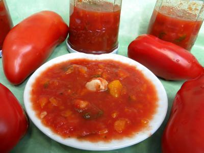 Image : Coupelle de sauce tomates aux carottes
