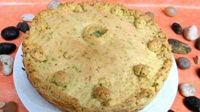 fromage de brebis : Tourte aux poireaux