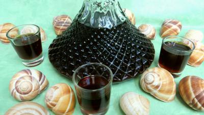 orange zeste : Carafe de liqueur de café