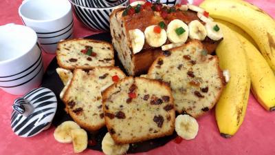 fruits confits : Tranches de cake à la banane