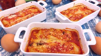 Pour débutants : Cassolettes de quenelles natures à la sauce bolognaise