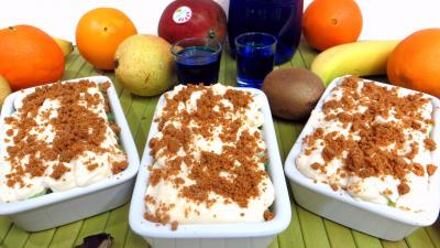kiwi : Cassolettes de fruits en salade au mascarpone