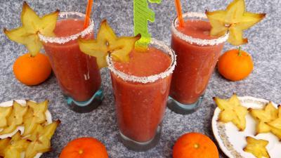 Boissons : Verres de cocktail à la grenade