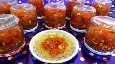 cointreau : Pots de confiture de carottes