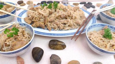 plat complet : Bols d'agneau au vermicelle de riz