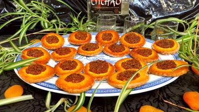 Cuisine chinoise : Assiette de biscuits d'abricots secs