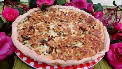 fromage de chèvre : Clafoutis au chou et aux brocolis
