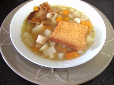 Recette Assiette de soupe de scorsonères