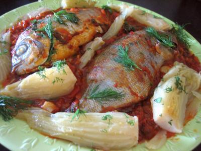Recette Assiette de daurade à la tomate