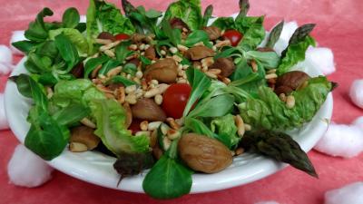 Recette Saladier de salade de châtaignes