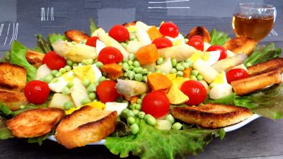 Entrées & salades : Petits pois en salade
