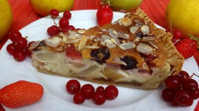 groseille à maquereau : Morceau de tarte aux fruits
